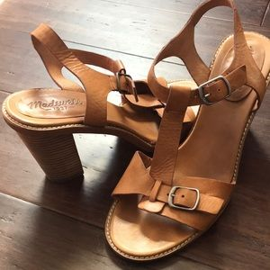 Madewell Leather Sandal with a stacked heel